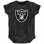 Raiders Infant Black Logo Onesie