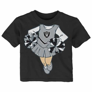 Raiders Infant Cheerleader Dreams Short Sleeve Tee - Click to enlarge