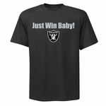Raiders Just Win Shield Logo Tee
