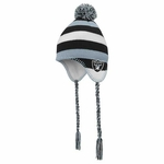 Raiders Juvenile Tassle Knit Hat with Pom