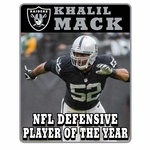 Raiders Khalil Mack Limited Defensive Player of the Year Pin