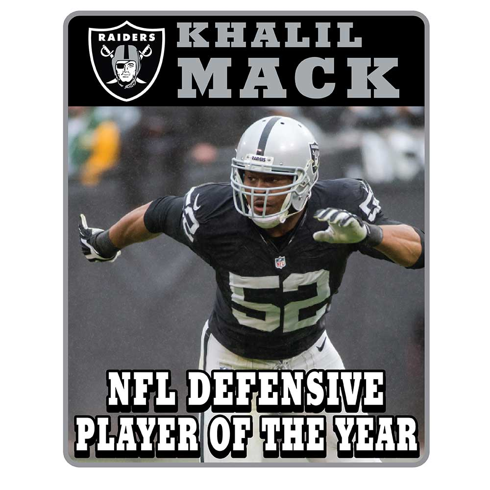 Khalil Mack Limited Defensive Player of the Year Pin