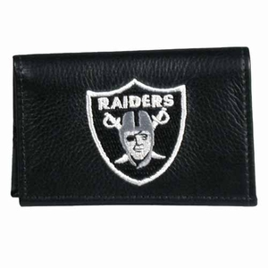 Raiders Leather Tri-fold Wallet - Click to enlarge