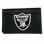 Raiders Leather Tri-fold Wallet