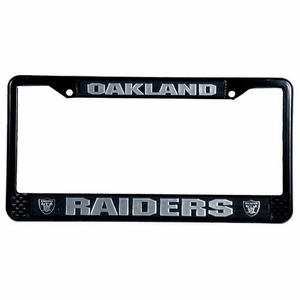 Raiders License Frame Black - Click to enlarge
