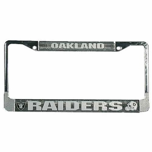 Raiders License Frame Chrome - Click to enlarge