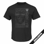 Raiders Majestic Autumn Wind III Tee