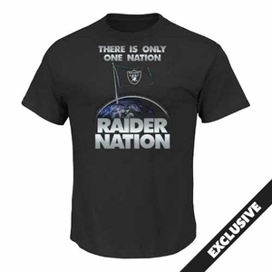 Raiders Majestic Raider Nation III Tee - Click to enlarge