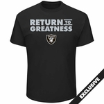 Raiders Majestic Return to Greatness Tee