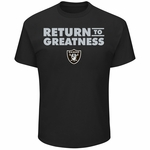 Raiders Raiders Majestic Return to Greatness Tee