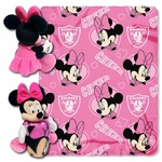 Raiders Minnie Mouse Hugger with Fleece Blanket
