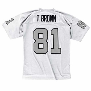 Raiders Mitchell and Ness Tim Brown 1994 White Replica Jersey - Click to enlarge