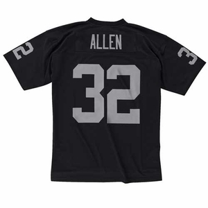 Raiders Mitchell & Ness Marcus Allen Black Replica Jersey - Click to enlarge