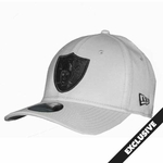 Raiders New Era 39Thirty Gray Black Logo