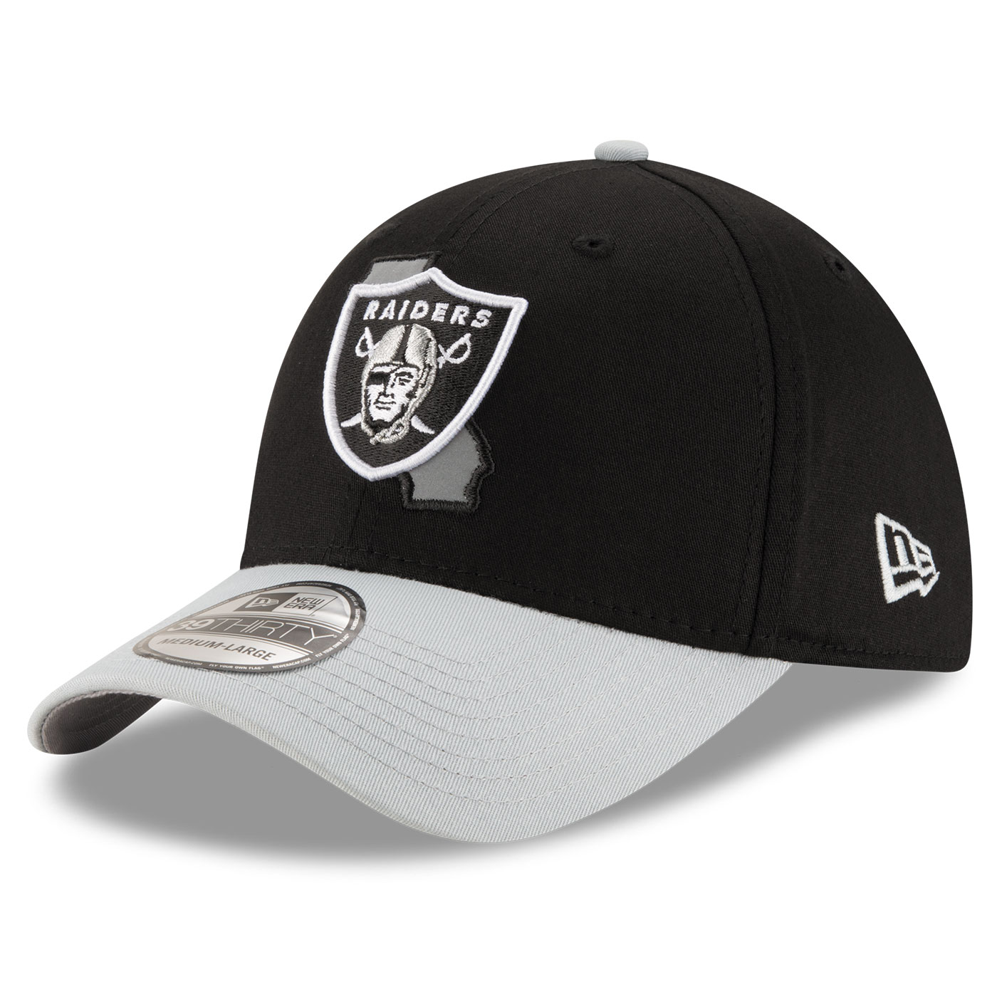 d992b4fdeae ... closeout raiders new era 39thirty state reflective cap 85471 6f38d