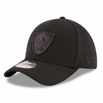 Raiders New Era 39Thirty Tone Tech Black Cap