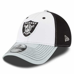Raiders New Era 39Thirty White Neo Front Cap