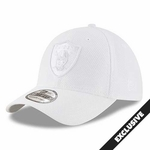 Raiders New Era 39Thirty White Tone Tech Cap