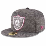 Raiders New Era 59Fifty 2016 Official Breast Cancer Awareness Cap