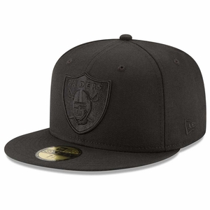 Raiders New Era 59Fifty Black On Black Cap - Click to enlarge