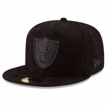 Raiders New Era 59Fifty Solid Suede Cap