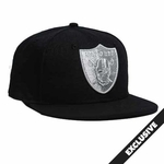 Oakland Raiders New Era 9Fifty Black Pirate Logo Aqua Hook