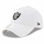 Raiders New Era 9Twenty Preferred Pick White Cap
