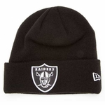 Raiders New Era Gridiron Black Knit Hat