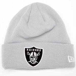 Raiders New Era Gridiron Grey Knit Hat - Click to enlarge