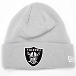 Raiders New Era Gridiron Grey Knit Hat