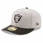Oakland Raiders New Era Low Crown 59Fifty Heather Classic Cap