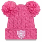 Raiders New Era Pom Doubler Pink Knit