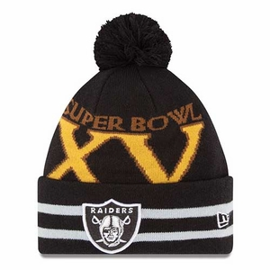 Raiders New Era Super Wide Point XV Knit Hat - Click to enlarge