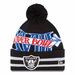 Raiders New Era Super Wide Point XVIII Knit Hat