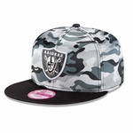Raiders New Era Women's 9Fifty Camp Snap Luster Cap
