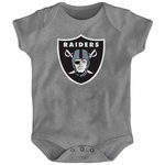 Raiders Newborn Steel Logo Onesie
