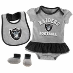 Raiders Newborn Wild Card Bib & Boot Set