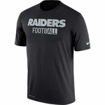 Raiders Nike All Football Legend Black Tee