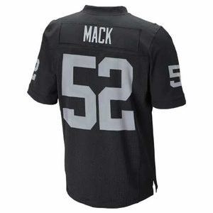 Raiders Nike Khalil Mack Black Elite Jersey - Click to enlarge