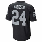 Raiders Nike Charles Woodson Black Elite Jersey