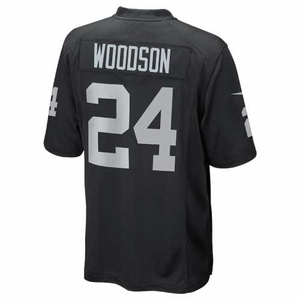 Raiders Nike Charles Woodson Black Game Jersey - Click to enlarge
