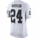 Raiders Nike Charles Woodson Elite White Jersey