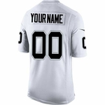 Raiders Nike Custom Limited White Jersey