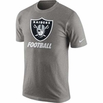 Raiders Nike Grey Facility Tee