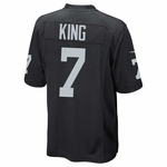 Raiders Nike Marquette King Black Game Jersey