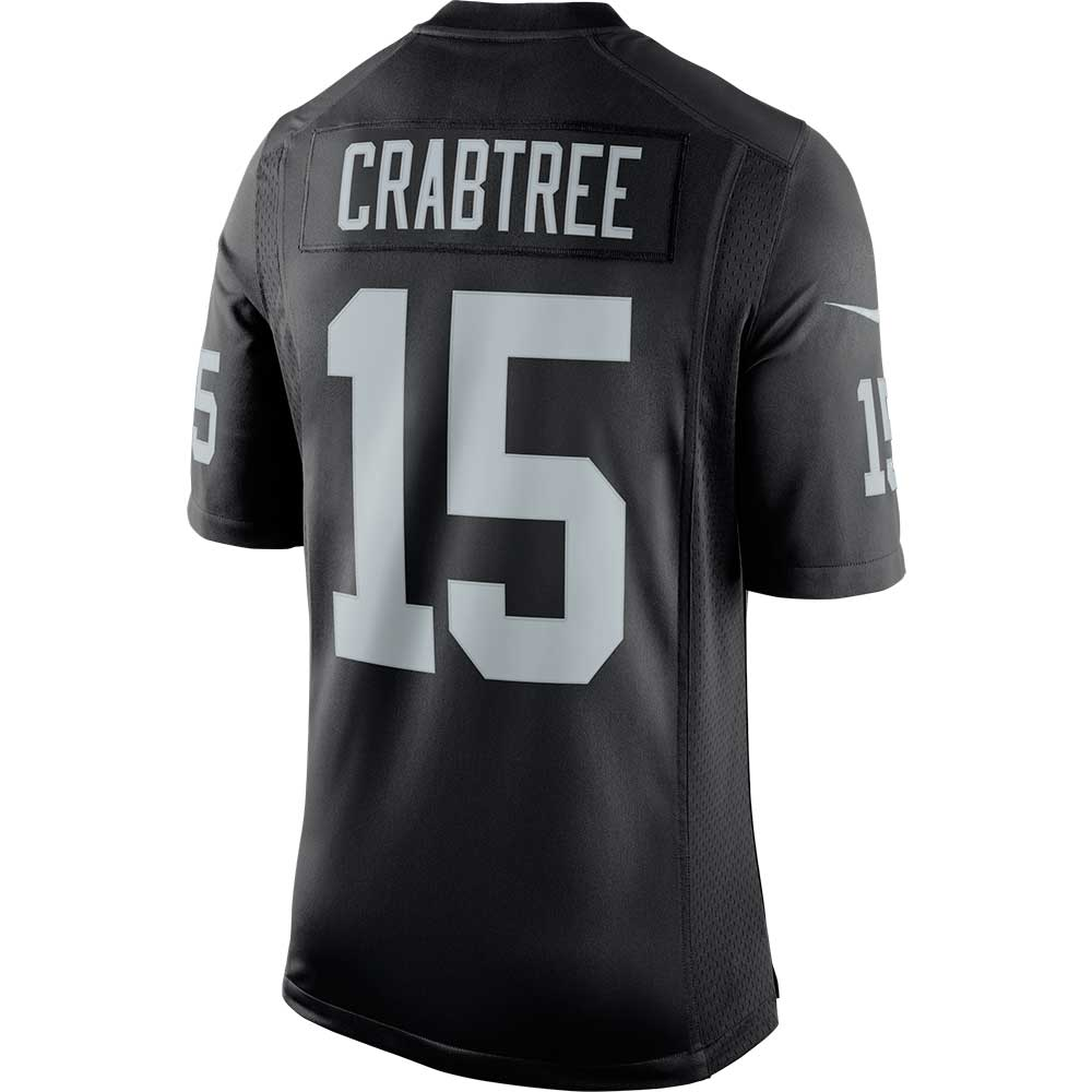 199bc6b20a2 ... free shipping raiders nike michael crabtree black limited jersey d4899  a42ef