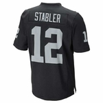 Raiders Nike Stabler Black Elite Jersey