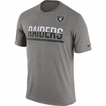 Raiders Nike Team Practice Grey Tee