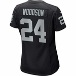 Raiders Nike Womens Charles Woodson Black Game Jersey