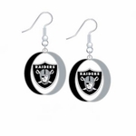 Raiders Oval Dangle Earrings
